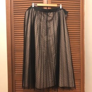 Eloquii plus size pleated polka dot maxi skirt 24